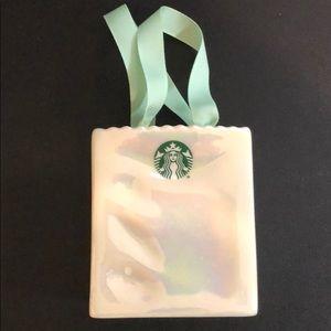 Starbucks iridescent card holder